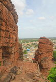 View from Badami Cave temples, Karnataka, India Royalty Free Stock Photo