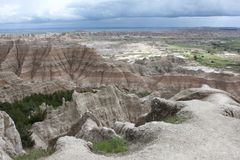 View of Badlands National Park in Sout Dakota Stock Image