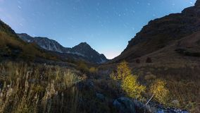 View of Baduk valley at night stock photography