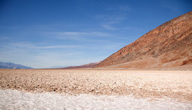 View at badwater in Death Valley Royalty Free Stock Images