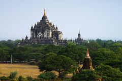 View at Bagan old ancient temple in Bagan Royalty Free Stock Images