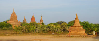 View of Bagan temples, Myanmar Stock Photos