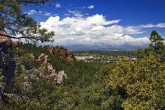 View of Bagnol-en-foret from La Col De la Pierre du Coucou Stock Images