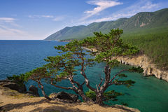 View of Baikal from the cliff Royalty Free Stock Photography