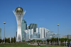 A view of the BAITEREK tower in Astana Royalty Free Stock Photo