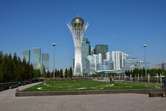 A view of the BAITEREK tower in Astana Stock Photo