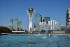 A view of the BAITEREK tower in Astana Royalty Free Stock Photos