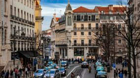 View of Baixa - Chiado circle called Largo de Camões in baixa chiado; stock photography