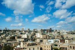 View of Baku Azerbaijan on bright Stock Image