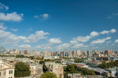 View of Baku Azerbaijan on bright Stock Image