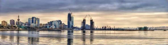 View of Baku by the Caspian Sea Royalty Free Stock Photos