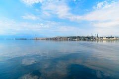 View of Baku city. From New City Park. Azerbaijan Royalty Free Stock Images