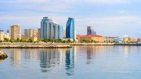 View of Baku city. From New City Park. Azerbaijan Royalty Free Stock Image