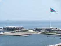 View of the Baku Crystal Hall. Azerbaijan. stock photos