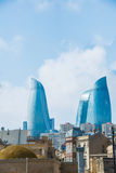 View of Baku with modern buildings Royalty Free Stock Photo