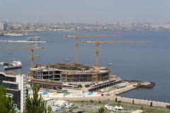 View of Baku's pier and promenade Royalty Free Stock Photography
