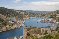 View of Balaklava. Crimea, Russia stock images
