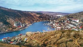 View of Balaklava. Balaklava is a district of Sevastopol, which is part Of Sevastopol bays. The Bay is surprisingly like a European port city. Perhaps, crystal stock photos