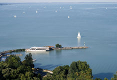 View of Balaton lake from Tihany abbey Royalty Free Stock Photo