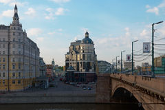 View on Balchug street in Moscow Royalty Free Stock Image