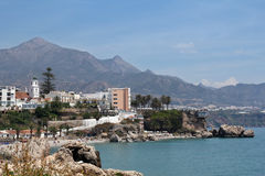 View on Balcon de Europa in Nerja, Spain Stock Image