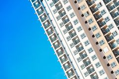 View of balconies of apartment building.New building architecture stock photography