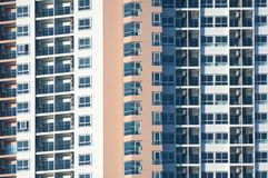 View of balconies of apartment building.New building architecture stock photos