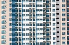 View of balconies of apartment building.New building architecture royalty free stock photography