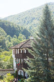 View from the balcony of the courtyard in the Troyan Monastery Bulgaria stock photography
