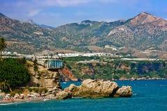 View on Balcony of Europe. Nerja, Spain Stock Photo