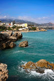 View on Balcony of Europe. Nerja, Spain Royalty Free Stock Photography