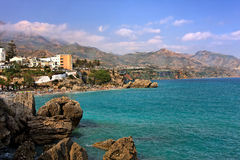 View on Balcony of Europe. Nerja, Spain Royalty Free Stock Photo