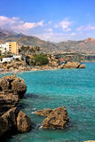 View on Balcony of Europe, Nerja. Spain Royalty Free Stock Images