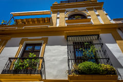 View of a balcony of a house in Seville, Spain, Europe Stock Photography