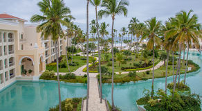 View from the balcony of Luxury Resort Royalty Free Stock Images