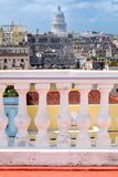View from a balcony in Old Havana with the Capitol building Stock Images