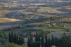View from a balcony in Pienza, Tuscany Royalty Free Stock Photography