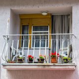 View on balcony in private building Stock Photos