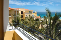 View from balcony at a resort in Cabo San Lucas, Mexico Stock Photography