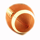 View of a ball for american football. Isolated on white Stock Image