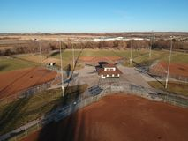 View of a Ball Diamond from above stock photography