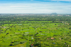 View from balloon of Siem Reap city, Cambodia Stock Image