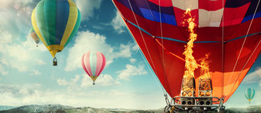 View from balloon Royalty Free Stock Photography