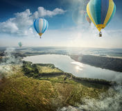 View from balloon Stock Photography