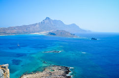 View on Balos bay Stock Images