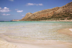 View of Balos bay in Crete, Greece. Royalty Free Stock Photography