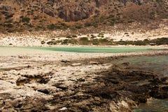 View of Balos bay in Crete, Greece. Stock Photo