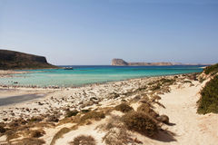View of Balos bay in Crete, Greece. Stock Images