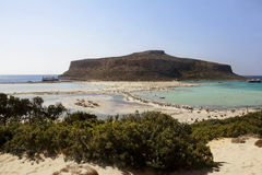 View of Balos bay in Crete, Greece. Royalty Free Stock Image