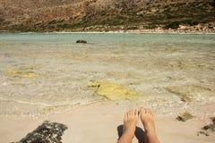 View of Balos bay in Crete, Greece. Royalty Free Stock Photos